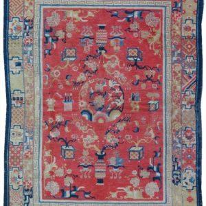 Antique Tibetan/China Rug # 17803 AR