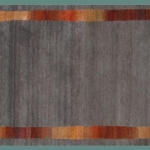 Border Gray by Tibet Rug Company