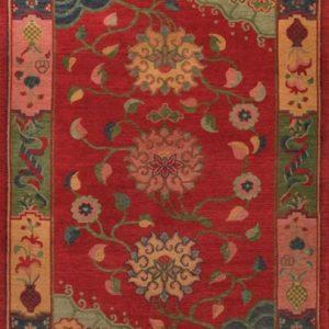Tibetan Rug Classic Floral Plum