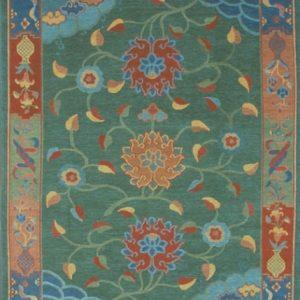 Tibetan Rug Classic Tibetan Floral Green