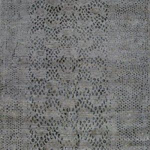 Diamond Back Gray Tibetan Rug
