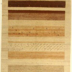 Gabbeh Rug CT Beige Brown Stripe