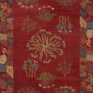 Tibetan Rug Healing Botanical Plum