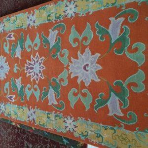 Lotus Flower Orange Rug Tenzing