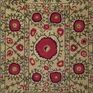 Poppy Beige Tibetan Rug