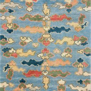 Tibetan Rug Clouds Sky Blue