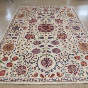 Suzani White Lotfy rug