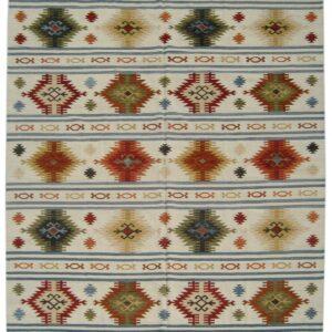 Indian flatweave rug